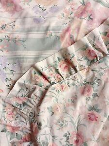 Vintage Dorma Croscill Reversible Duvet Cover Floral SINGLE