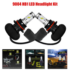 2PCS 8000LM 9004 HB1 LED Headlight Kit Hi Low Beam Bulbs Driving Lights 6000K 3A