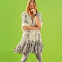 Ladies Womans Plus Size 10-30 UK Summer Gypsy Boho Smock Long Top Style Tunic