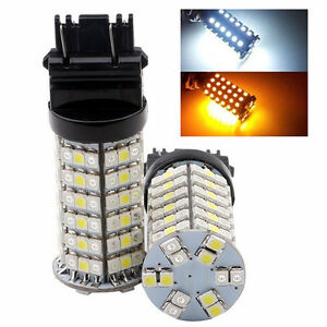 50Pcs 3157 1210 120SMD Dual color Switchback White + Amber LED Turn Tail Lights