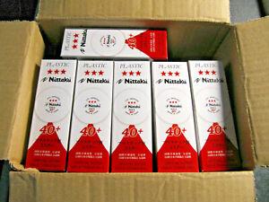 Nittaku 12x3 Tischtennisbälle (36 Stück)  3* SHA 40+ weiss plastik