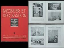 MOBILIER ET DECORATION N°9 1936 JACQUES ADNET, PAULE MARROT, RENE GABRIEL