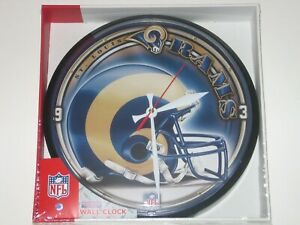 """St. Louis Rams 12"""" Logo Round Wall Clock - Runs On One AA Battery FREE SHIPPING!"""
