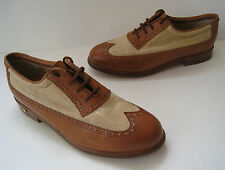 WALTER GENUIN SPECTATOR GOLF& DRESS SHOES SIZE 6.5 HANDMADE IN ITALY VINTAGE