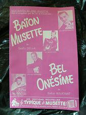 Partition Baion Musette Dario Della Bel Onesimus Jo Privat Emile Bouriant 1962