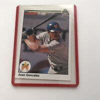1990 Upper Deck JUAN GONZALEZ Rookie Card Texas Rangers Lot Of Three