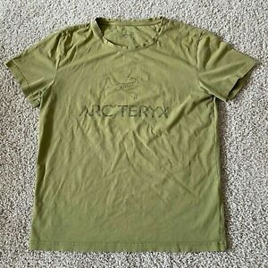 Arcteryx Mens Graphic Logo T-Shirt Tee Olive Green Size L Large