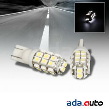 2 X PURE WHITE 26-LED SMD 168/194/2825/T10 REAR LICENSE PLATE LIGHT/SIDE BULBS
