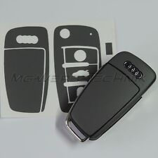 2A_Schlüssel-Dekor Aufkleber für Audi A1 A3 A4 A6 TT Q7 grau matt