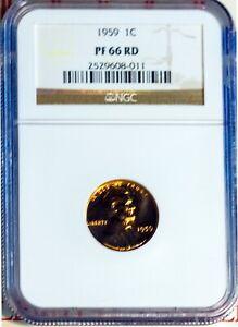 1959 1C Lincoln Memorial Small Cent PF 66 Red NGC # 2529608-011 + Bonus