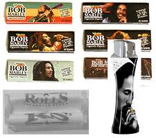 Bob Marley Cigarette Rolling Paper Size 6 packs, 1 Lighter, 1 Machine