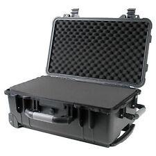 """22"""" Weatherproof Marine Rolling Case Drone Camera Gun W/ Pelican 1560 Pluck Foam"""