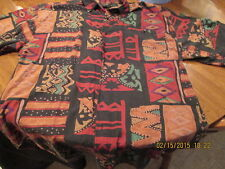 Oantana Multicolor Short Sleeve Hawaiian Style Shirt, Size Large