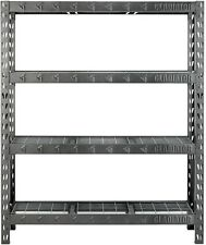 4-Shelf Welded Steel Garage Shelving Unit Rack Storage Organizer Heavy Duty New