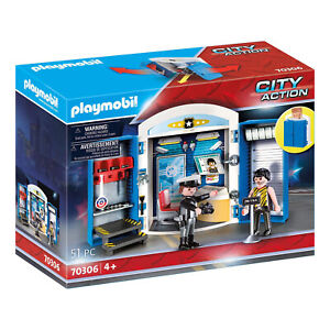 Playmobil City Action Police Station Play Box Building Set 70306 NEW IN STOCK