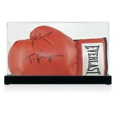 More details for tyson fury signed red boxing glove autographed memorabilia case