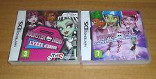 2 jeux nintendo DS - Monster high lycée d'enfer + course de roller / 3DS et XL
