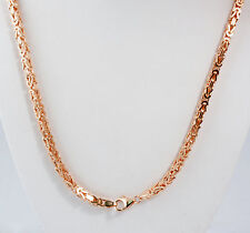 "45.50 gm 14k Rose Solid Gold Men's Women's Byzantine Chain Necklace 22"" 3.50 mm"