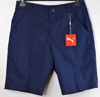 "PUMA Mens Golf Tech Shorts Navy Blue 10"" Inseam Size 30 Waist NWT"
