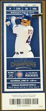 6/10/2017 Chicago Cubs Colorado Rockies Ticket Anthony Rizzo Charlie Blackmon