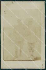 Militari WW1 WWI Soldati Uniforme Cirenaica ? Foto cartolina XF6853