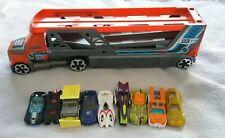 Hot Wheels Mega Truck Transporter & 9 Cars Bundle Joblot Toy Car
