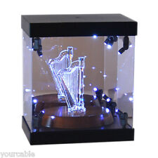 Acrylic Display Case Light Box for Swarovski Panda Chimpanzee Mother with Baby