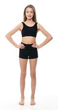 Girls Black Cotton Dance Fitness Sports Gym Hot Pants Shorts KHPC-5 By Katz