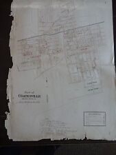 LARGE, HISTORIC 1883 Map of Part 2 of Coatesville, PA - Property Specific Detail