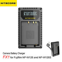 NITECORE FX1 Dual USB Camera Li Battery Charger for Fujifilm NP-W126 & NP-W126S