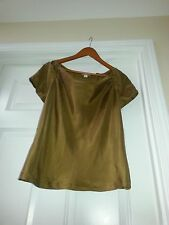 .J.Crew 100% Silk Blouse Size 6 Golden brown  Tank Top