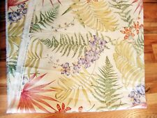 """Liz Claiborne Tropical Upholstery Fabric Drapery Curtains 2 Pieces 4+ yds 54"""""""