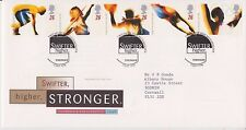 GB ROYAL MAIL FDC FIRST DAY COVER 1996 OLYMPICS STAMP SET MUCH WENLOCK PMK