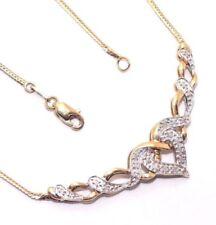Collar de joyería con diamantes de oro amarillo de 9 quilates