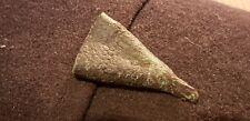Very rare Viking copper alloy side arm scabbard chape superb dot design L522