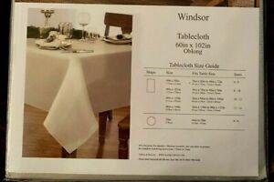 "Villeroy & Boch ""Windsor"" Gold Metallic Cloth 60"" x 102"" Oblong Tablecloth ~ NIP"