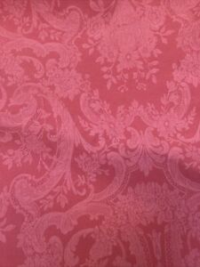 Ralph Lauren King Flat Sheet red PAISLY Floral Avery Coastal FLAWED-Craft Fabric