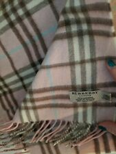 BURBERRY Women's Cashmere Pink Check Scarf, EXCELLENT Condition, barely worn
