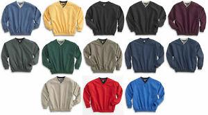 White Bear Microfiber Windshirt Pullover Long Sleeve V-Neck Golf Wind Shirt 5150