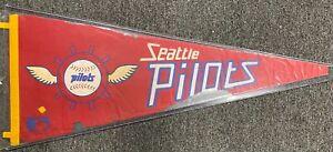 Vintage 1969 Seattle Pilots Baseball Team Pennant