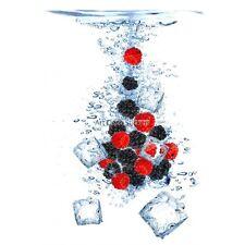 Magnete Da Frigorifero decocrazione Ghiaccio frutta e verdura rosso 60x90cm ref