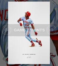 Eric Davis Cincinnati Reds Baseball Illustrated Print Poster Art