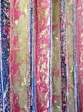 Mid Century Curtain Fabric Barkcloth-style Abstract Tiki Rust Green Orange Black