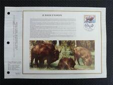 FRANCE CEF 1974 BISON BISONS WISENT WISENTE ERSTTAGSBLATT SAMMELBLATT z780