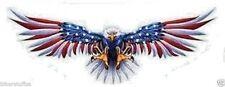 FLYING EAGLE WITH US FLAG ON WINGS HELMET STICKER BUMPER STICKER OPEN WINGS
