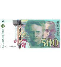 FRANCE, PIERRE ET MARIE CURIE - 500 FRANCS 1994 - SÉRIES VARIÉES - TTB