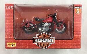 Maisto 1:18 Scale Harley Davidson Collectibles 1948 FL Panhead Die Cast series 5
