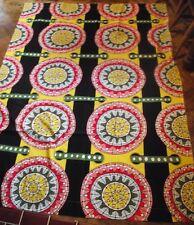Rare IKEA Cilla Ramnek curtain upholstery fabric bright mandala design 2 Metres