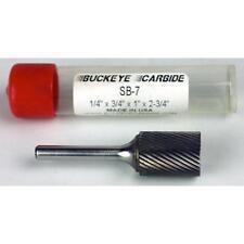 Carbide Burr (SB-7) Cylindrical End Cut - Single Cut - 1/4 x 3/4 x 1 x 2 3/4