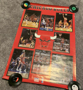 Chicago Bulls NBA Starline 1988 Poster Rare Michael Air Jordan Scottie Pippen